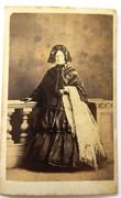 1860s Victorian Carte de Visite Card Photograph Older Lady