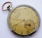 Vintage Art Deco Cortebert Chronometre Mechanical Crown Wind Pocket Watch