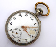 Antique 1920s French L'Alouette Crown Wind Mechanical  Pocket Watch