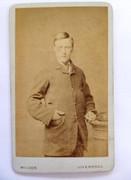1870s Victorian Carte de Visite Card Photograph by Wilson of Liverpool