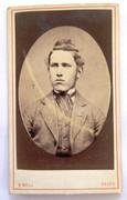 1870s Victorian Carte de Visite Card Photograph by Robert Bell of Kelso