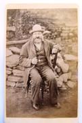 1870s Victorian Carte de Visite Card Photograph of a Man on Chair