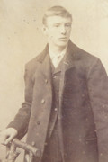 1880s Victorian Carte de Visite Card Photograph by John Hart of London