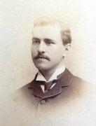 1880s Victorian Carte de Visite Card Photograph by Victor G Manders of Walthamstow