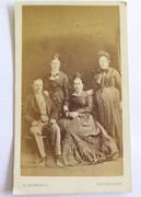 1880s Victorian Carte de Visite Card Photograph by G Chuchill of Eastbourne