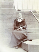 Large 1800s Victorian Cabinet Card Photograph of a Victorian Lady