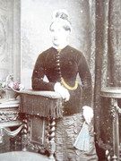 Large 1800s Victorian Cabinet Card Photograph by Stuart Brothers