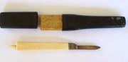 Unusual 1800s Southern & Richardson Sheffield Ivory  Pointed Handle Pocket Knife Original Case