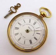 Vintage Brass Tell Chronograph Swiss Mechanical Pocket Watch for Parts Steampunk