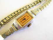 Vintage Ladies 1950s Art Deco Mechanical Wrist Watch Works (Repair of Parts)