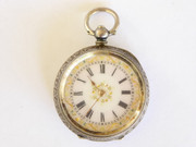 Late  1800s Swiss .935 Silver Pocket Watch with Fancy Dial (Needs Work)