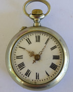 Antique  1900s  Pocket Watch with Crown Wound  Mechanical Movement