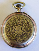 Antique 1900s German .800 Silver and Gold Pocket Watch Monogrammed EH