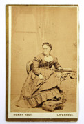 Victorian Carte de Visite Card Photograph by Henry Keet of Liverpool