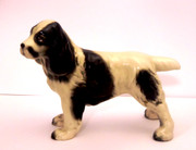Vintage Japanese Ceramic Statue of a Dog English Springier Spaniel