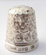 Antique 1923 Sterling Silver Sewing Thimble 18 Henry Griffith & Sons