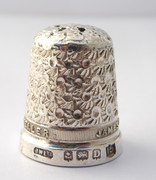 Antique 1928 Hallmarked Sterling Silver Sewing Thimble Silversmith James Walker The London Jeweller 15