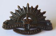 Antique WW2  Era Military  AIF Australia  Rising  Sun  Shoulder  Badge
