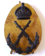 Vintage Military Crossed .303 Rifle Wreath Crown Marksman Sniper Badge