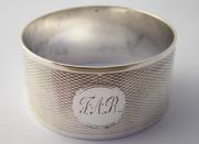 Antique 1935 Sterling Silver Napkin Ring Monogrammed FAR Silversmith J Collyer Ltd