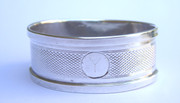 Art Deco 1935 Hallmarked Sterling Silver Napkin Ring by  Silversmith Henry Griffith & Sons