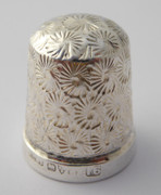 1900s Antique Sterling Silver Sewing Thimble 16 Henry Griffith & Sons