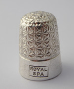 Antique 1928 Sterling Silver Sewing Thimble ROYAL SPA 15  Henry Griffith & Sons