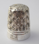 Antique Silver Thimble  Dorcas 5 Charles Horner Plated  ?