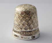 BRUFORD EXETER Antique 1900s Sterling Silver Sewing Thimble ROYAL SPA 17  Henry Griffith & Sons