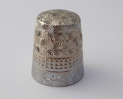 1900s Antique Silver Thimble 5 Charles Horner Plated