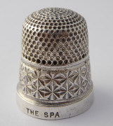Antique 1931 Sterling Silver Sewing Thimble THE SPA 18 Henry Griffith & Sons