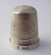 Antique Hallmarked 1922 Sterling Silver Sewing Thimble Silversmith James Swann & Sons