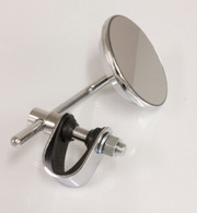 Chrome Mini Clamp On Mirror