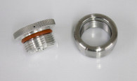 Weld in Gas or Oil Cap Steel bung and Aluminum Cap