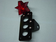 """Star"" Side Mount Tail Light License Plate Bracket"