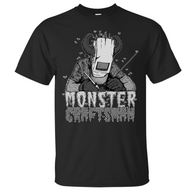 Monstercraftsman Green Eggs and Spam Black and White T-Shirt