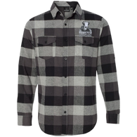 Monstercraftsman Green Eggs and Spam Black and White Plaid Flannel Shirt