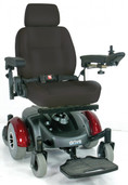 Burgundy Image EC Mid Wheel Drive Power Wheelchair - 2800ecbu-rcl