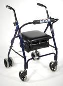 Mimi Lite Push Brake Rollator Walker - 510