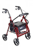 Duet Burgundy Transport Wheelchair Rollator Walker - 795bu