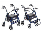 Duet Blue Transport Wheelchair Rollator Walker - 795b