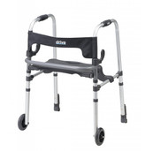 Clever Lite LS Rollator Walker with Seat and Push Down Brakes - 10233