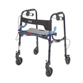 """Clever Lite Flame Blue Junior Rollator Walker with 5"""" Casters - 10230j"""