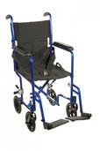 Transport Wheelchair, Lightweight Blue - atc19-bl