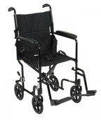 Lightweight Black Transport Wheelchair - atc17-bk