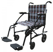 Transport Wheelchair Ultra Lightweight, Black - dfl19-blk