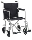 "17"" Flyweight Lightweight Silver Transport Wheelchair - fw17sl"