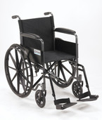 Silver Sport 1 Wheelchair with Full Arms and Swing away Removable Footrest - ssp118fa-sf