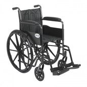 Silver Sport 2 Wheelchair with Swing Away Footrest - ssp218fa-sf