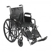 Silver Sport 2 Wheelchair with Detachable Desk Arms and Elevating Leg Rest - ssp218dda-elr